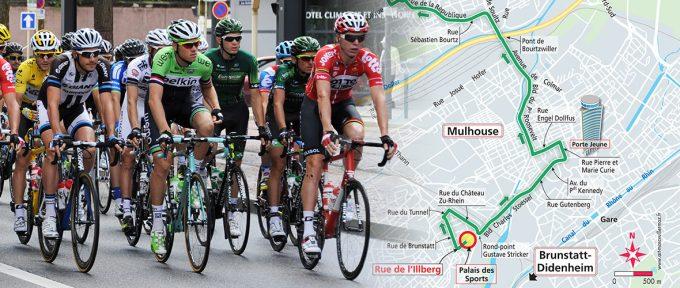 Avant-première : découvrez le tracé mulhousien du Tour de France