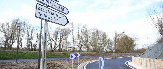 Désenclavement de Bourtzwiller : la nouvelle bretelle d'accès au quartier est ouverte