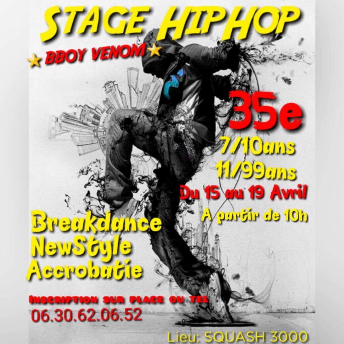 Stage de hip-hop et de breakdance