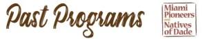 Past Programs - MP/NOD