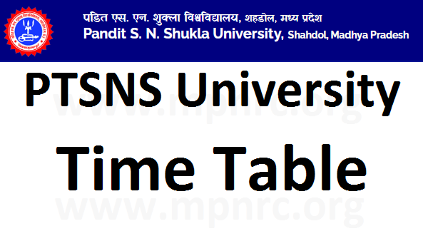 PTSNS time table