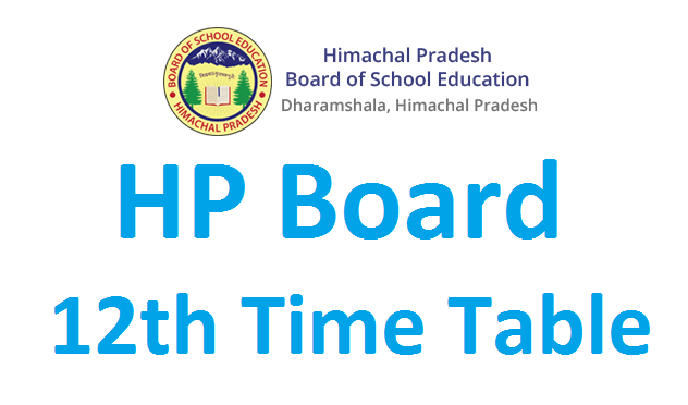 HPBOSE 12th time table