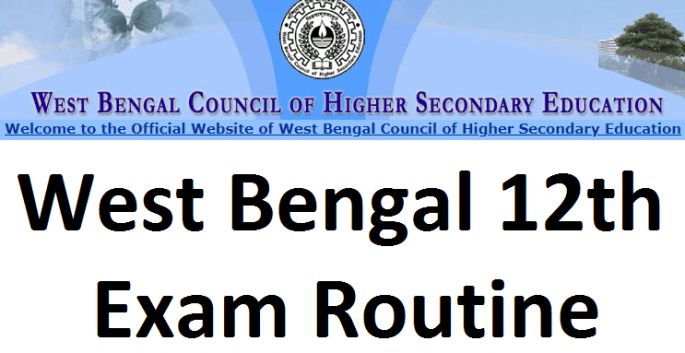 West Bengal 12th Exam routine