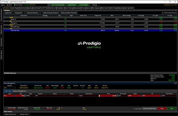 Prodigio Trading Desktop Platform