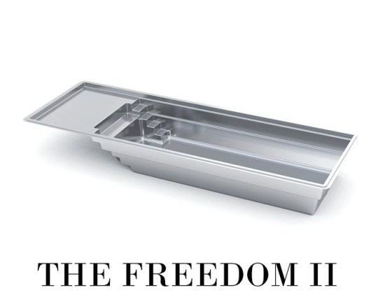 The Freedom II Fiberglass Pool