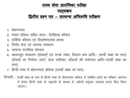 MPPSC Prelims 2020 Syllabus In Hindi 4