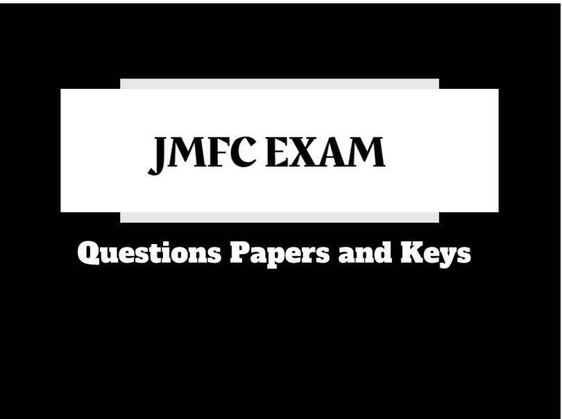 jmfc exam question paper