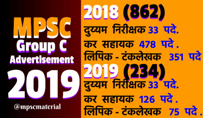 MPSC Group C Combined Advertisement