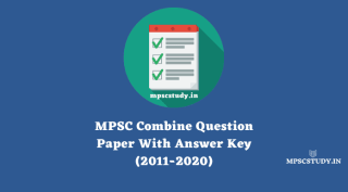 MPSC Combined Question Papers with Answers pdf