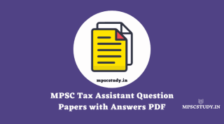 MPSC Tax Assistant Question Papers with Answers PDF