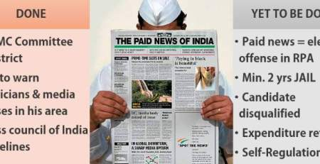 Paid News in India Election commission