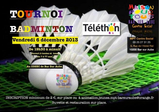 Tournoi bad téléthon 2013