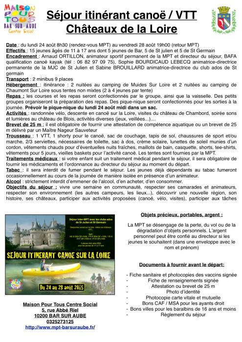 infos séjour Loire
