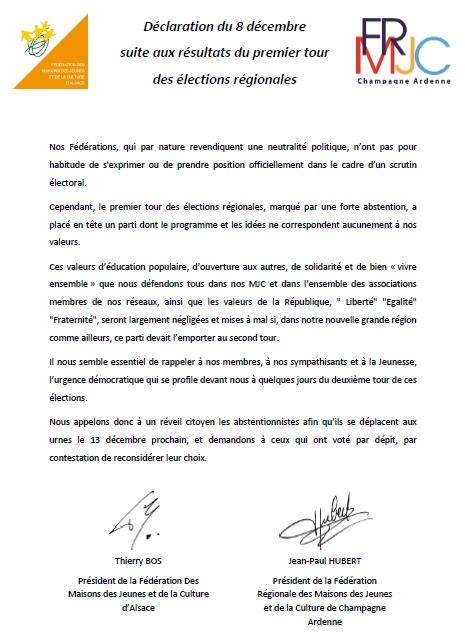 declaration 8 décembre