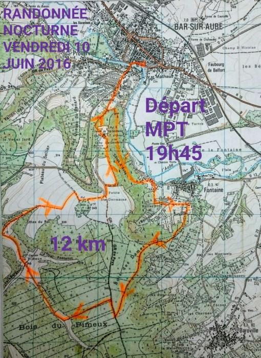 randonnée nocturne 2016 plan