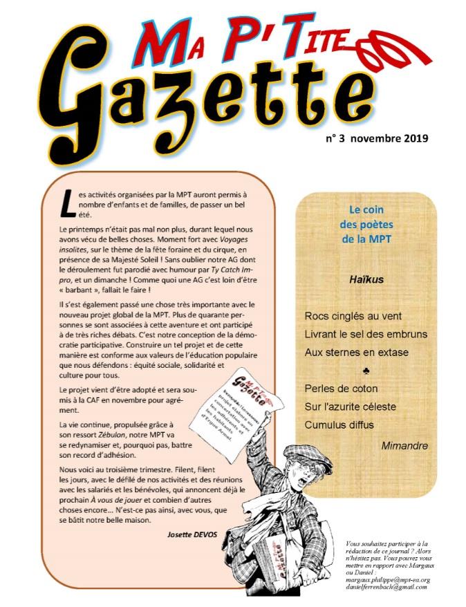 LE JOURNAL DE LA MPT