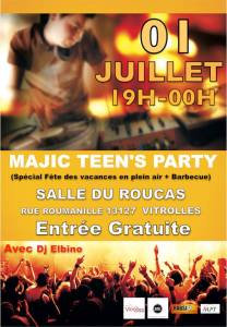 teen party 1 juillet 2016
