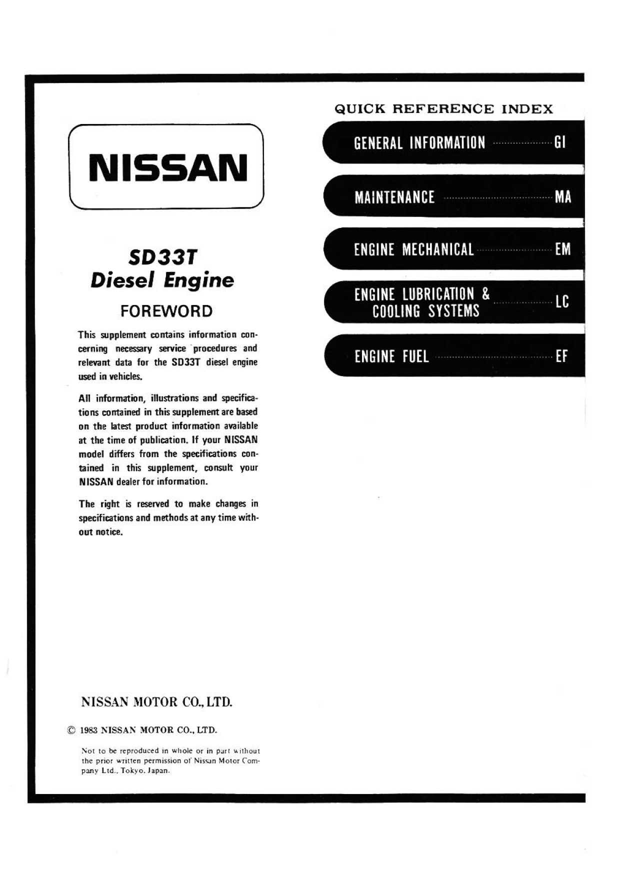 Sd Seriessel Engine Service Manual