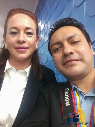 Junto a nuestra Canciller y Ministra de Movilidad Humana, Maria Fernanda Espinoza