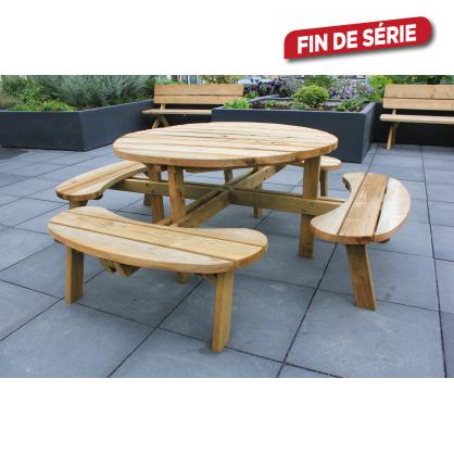 Table De Pique Nique Ronde 219 6 X 219 6 X 71 4 Cm Solid