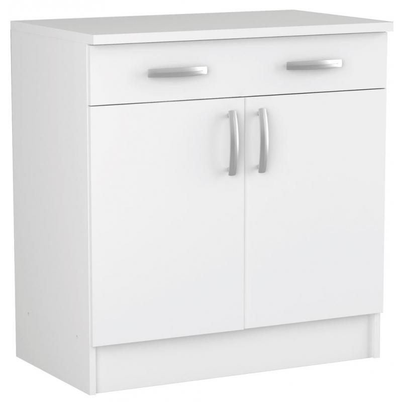 meuble de cuisine bas nova avec 2 portes 85 x 80 x 60 cm mr bricolage