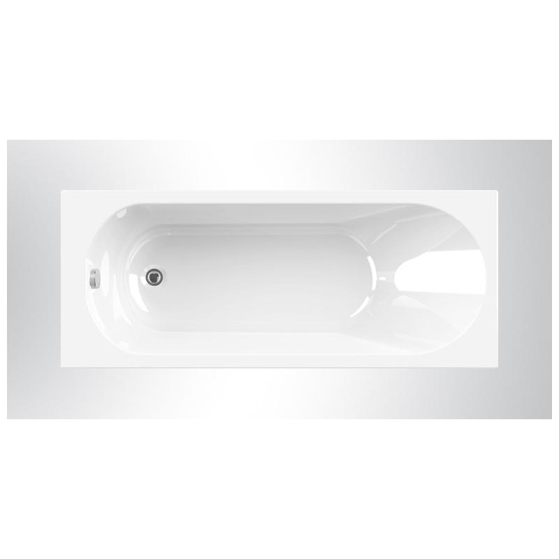 baignoire rectangulaire diva 170 x 70 cm allibert mr bricolage