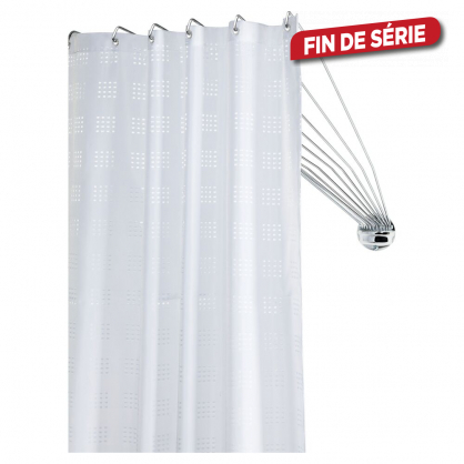 barre de rideau de douche d angle umbrella chrome 80 cm sealskin mr bricolage