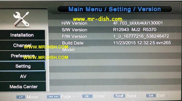 OST S1506C 2018 D2 V1.4 BOARD TYPE RECEIVER AUTOROLL POWERVU SOFTWARE