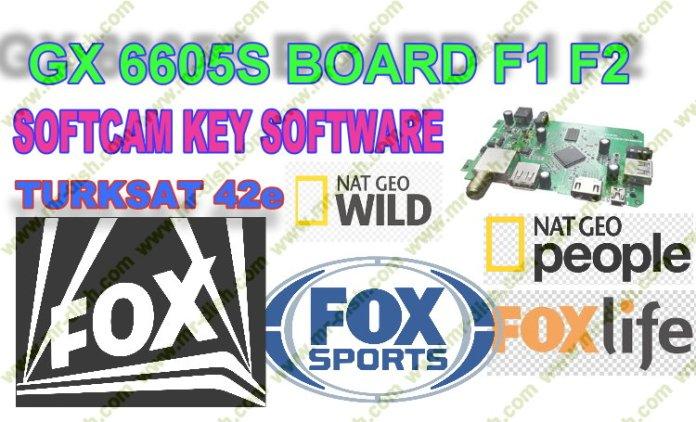 GX6605S F1 F2 Receiver Fox Network Turksat 42e New Softcam Download