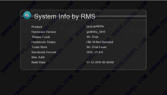 Gx6605S 5815 Receiver m3u File Sony Network Ok