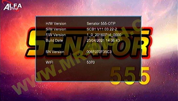 SENATOR 555 New Software V11.03.22-2