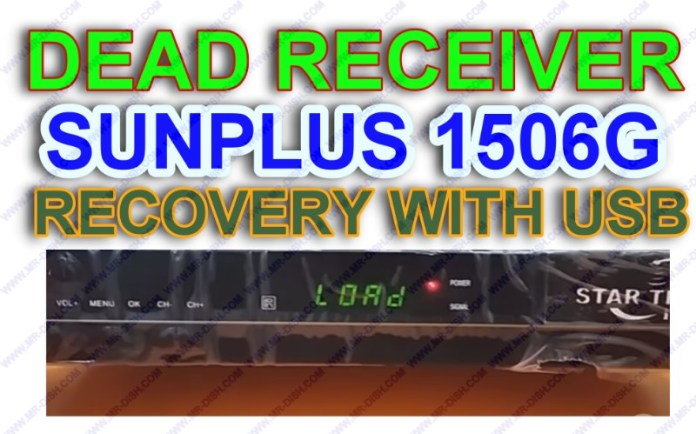 HOW TO REPAIR 1506G DEAD RECEIVER WITH USB