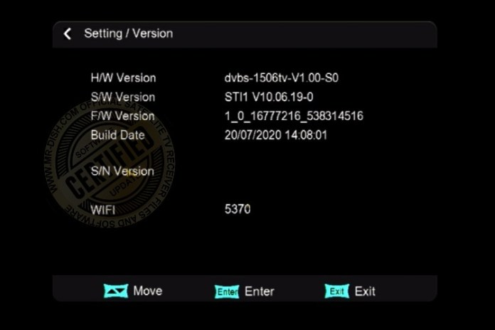 ORYX M5 1506TV RECEIVER NEW SOFTWARE Information