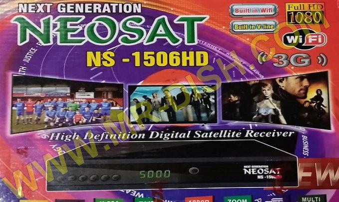 NEOSAT NS-1506HD 1506TV RECEIVER NEW SOFTWARE