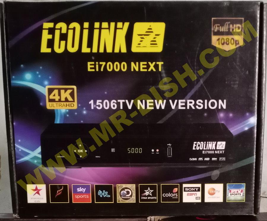 ECOLINK EI7000 NEXT 1506TV STF3 SOFTWARE