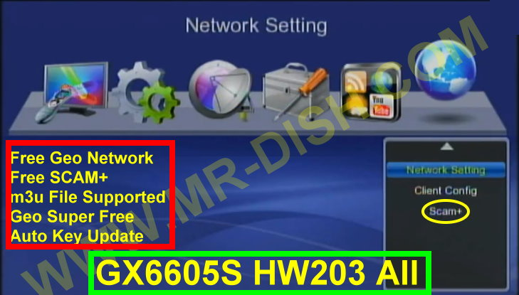 GX6605S HW203 SOFTWARE WITH FREE SCAM SERVER AND GEO SUPER