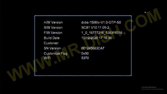 1506TV RECEIVER SOFTWARE WITH SONY LIV