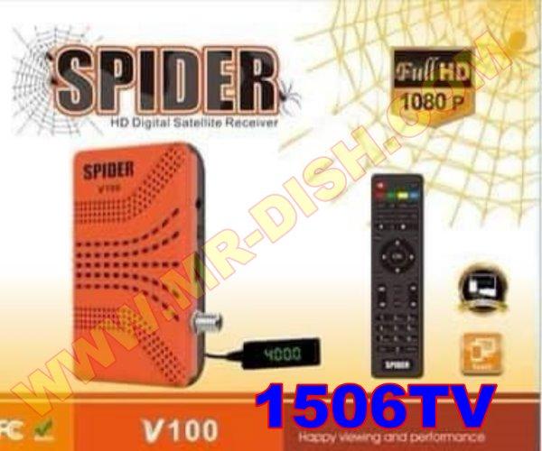 SPIDER V100 1506TV RECEIVER NEW SOFTWARE