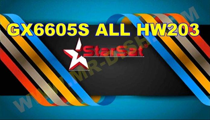 GX6605S ALL HW203 STARSAT SOFTWARE