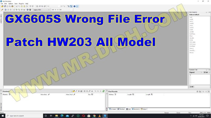 PATCH GX6605S HW203 AND FIX WRONG FILE ERROR