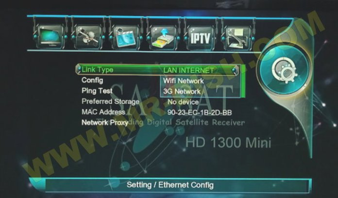 SAMSAT 1300 HD MINI NEW SOFTWARE Network
