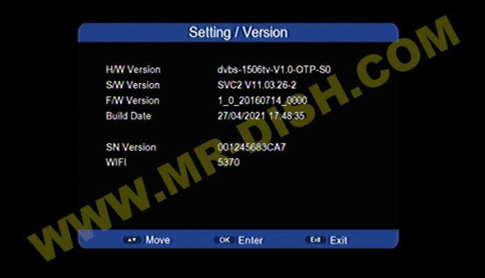 HAMMER X3 1506TV 4M RECEIVER NEW SOFTWARE V11.03.26-2