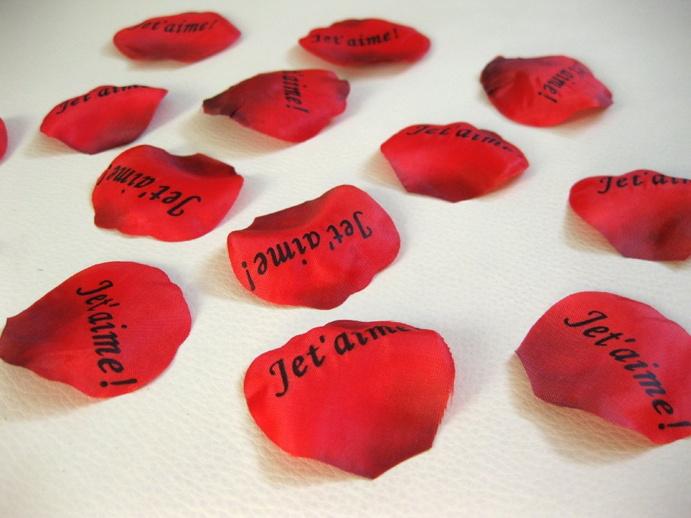 100 Ptales De Roses Je Taime Objet Saint Valentin
