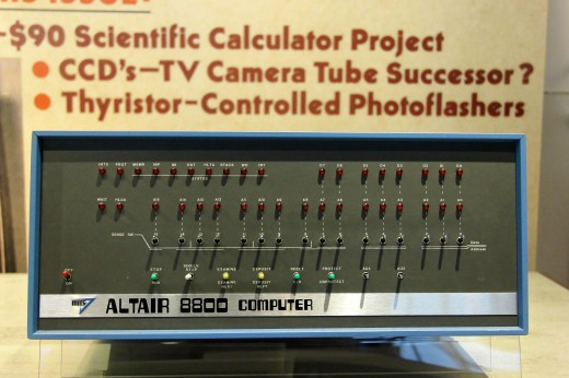Altair 8800 im Computer History Museum in Mountain View