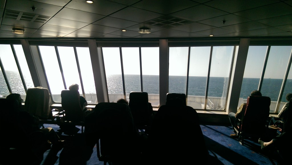 On the ferry from Dublin to Holyhead