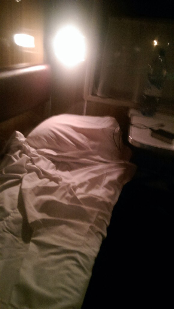 My bed on the Trans-Siberian