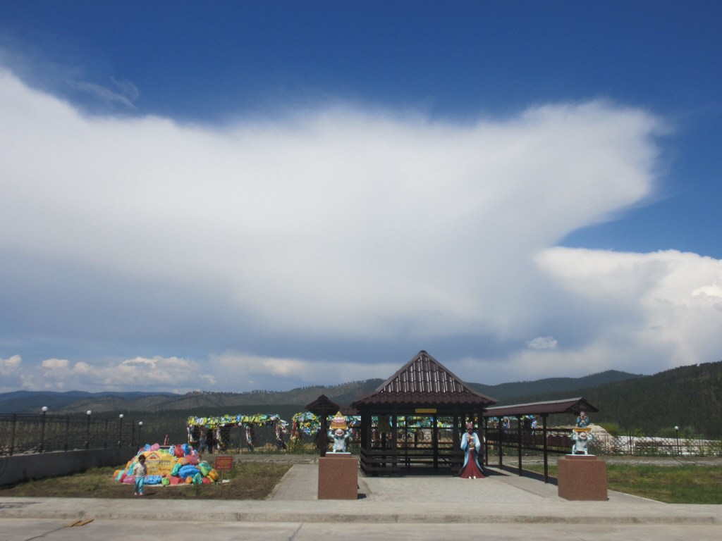 Storm coming behind the Rinpoche Bagsha Datsan (Buddhist Temple) in Ulan Ude, Siberia, Russia
