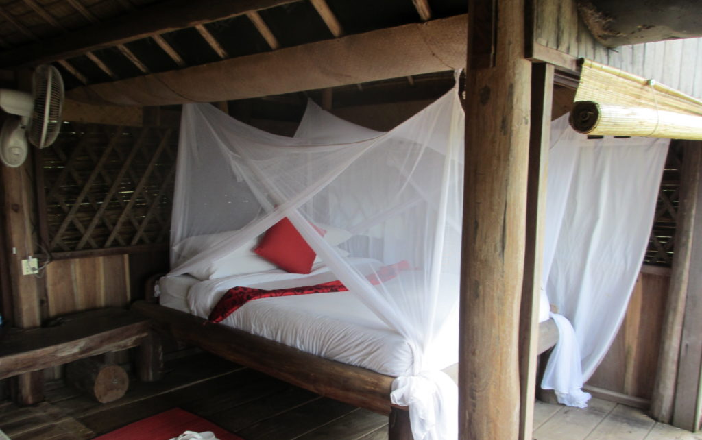 Resort in Cambodia - outside bed!