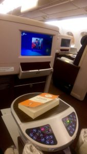 Buttons & TV on MAS Business Class