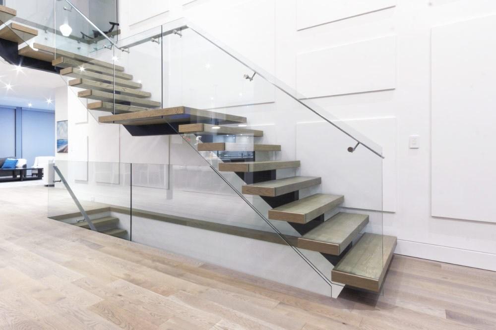 Mrail Modern Stairs Frameless Glass Railings   Glass Handrails For Stairs   Balustrading   Custom Glass   External   Frameless   Fully Glass